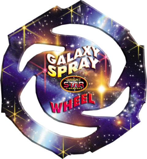 Galaxy Spray Catherine Wheel